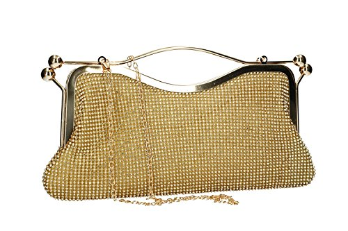 gold pochette with VN2363 strass woman Purse ceremonies for MICHELLE MOON 7qtfTwxIH
