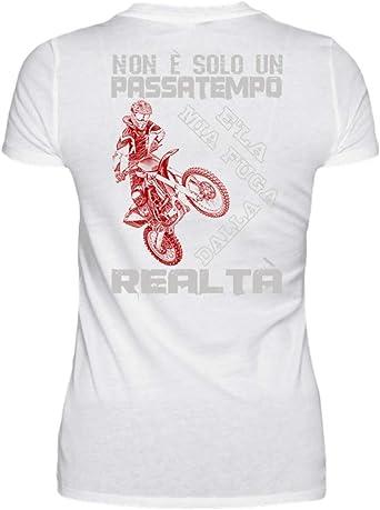 Camisa de Motocross Realta Mujer Blanco XL: Amazon.es: Ropa y ...