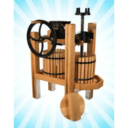 American Harvester Cider Mill and Wine Press Complete Package-- Double-Tub Press with Motor and more!