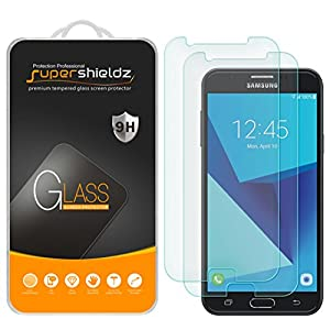 [2-Pack] Supershieldz for Samsung Galaxy J7 (2017) Tempered Glass Screen Protector, Anti-Scratch, Anti-Fingerprint, Bubble Free, Lifetime Replacement Warranty