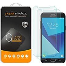 "[2-Pack] Supershieldz for Samsung ""Galaxy J7 Perx"" Tempered Glass Screen Protector, Anti-Scratch, Anti-Fingerprint, Bubble Free, Lifetime Replacement Warranty"