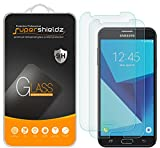 (2 Pack) Supershieldz for Samsung (Galaxy J7 Sky Pro) Tempered Glass Screen Protector, Anti Scratch, Bubble Free