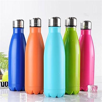 NYKKOLA doble pared botella de agua de acero inoxidable y bebidas botella - 24 horas frío & 12 caliente - 500 ml - termo aislado al vacío botella, ...