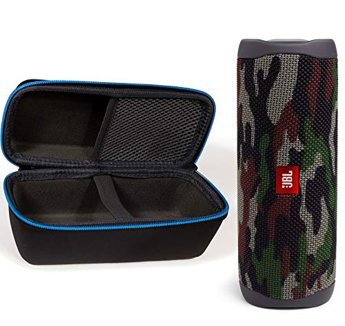 JBL Flip 5 Waterproof Portable Wireless Bluetooth Speaker Bundle with divvi! Protective Hardshell Case – Camouflage