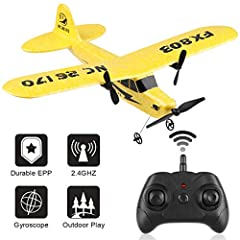 RC Plane FX-803 2 Channel 2.4GHzRC Airplane Built-in 6-AxisGyro EPP Remote Control AirplaneReady To FlyRC Aircraft Glider Easy to Fly for Beginner Adult Kids Boys              Specifications:       Name:RC PlaneFX-803       Materi...
