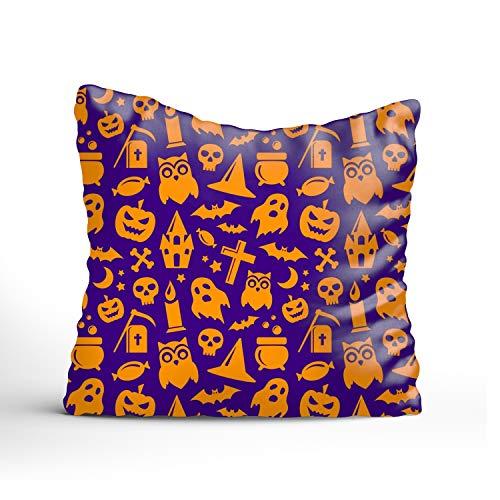 FunnyLife Halloween Seamless Sofa Simple Home Decor Pillow £¬Cotton Linen Decorative Square Throw Pillow Covers]()