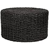 Modern & Contemporary Wood Handmade Grass Knotwork Coffee Table/Ottoman (Black) Review