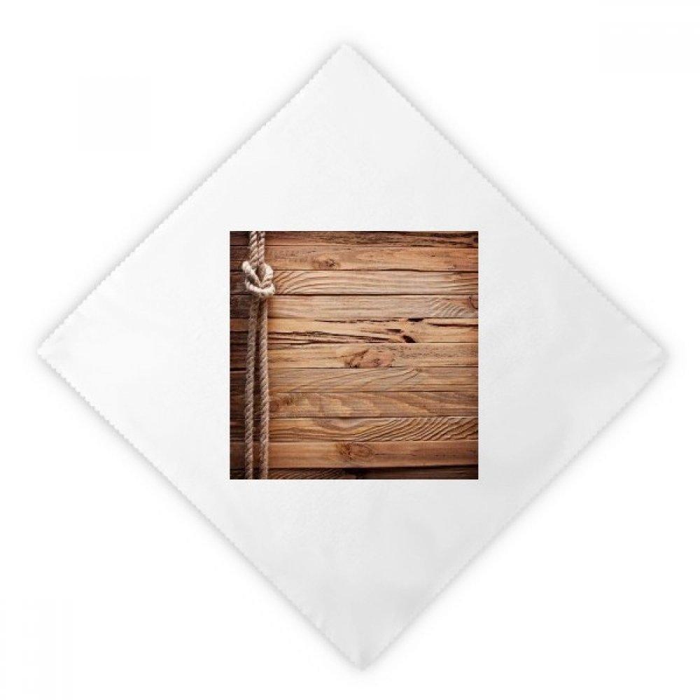 DIYthinker Wood Irregular Rope Stripes Pattern Dinner Napkins Lunch White Reusable Cloth 2pcs