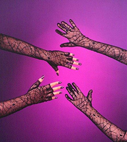 Fun World Gloves Spiderweb No Fingers]()