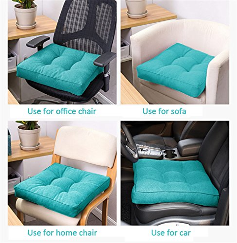 Uther Square Pillow Chair Pad Thickened Tatami Cushion Indoor Outdoor Office Pad (Turquoise,40x40cm) by Uther