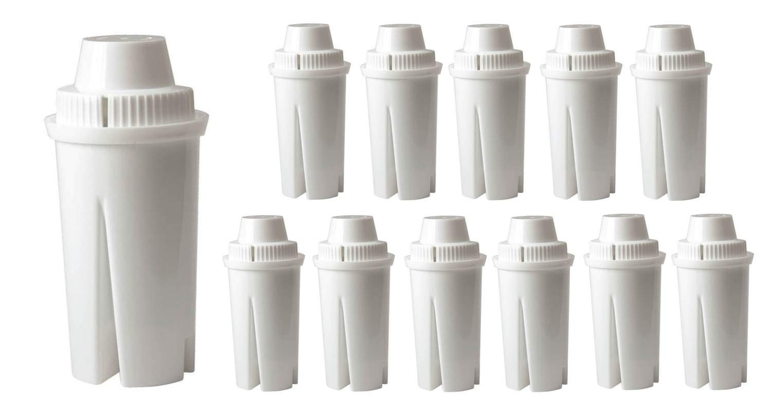 GoldTone Brand Water Filter Replaces Brita Water Filter Pitcher Classic Replacement Filters for Brita and Mavea, 12 Count