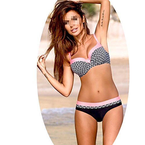 Sexy Swimsuit Print Biquini Brazilian Bikinis Set Swim Bathing Suit Girl's Beachwear,S Color,M