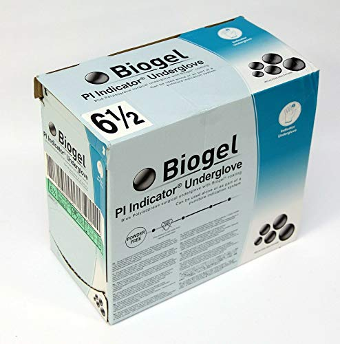 Biogel PI Indicator Blue polyisopren Underglove Surgical glove Sterile size 6.5 (Biogel Surgical Gloves)
