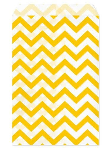 set-of-100-size-4x6-yellow-chevron-paper-bags-by-my-craft-supplies