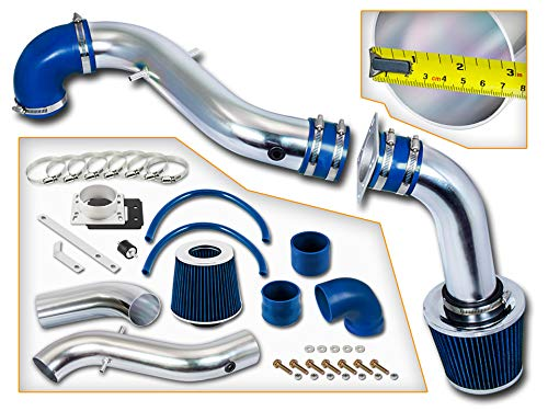 Rtunes Racing Cold Air Intake Kit + Filter Combo BLUE Compatible For 98-03 Compatible Ford Escort ZX2 2.0L L4 ()