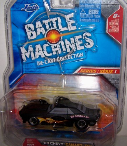 Jada Toys 1/64 Scale Battle Machines Diecast Collection Series 1 1969 Chevy Camaro Ss in Color Black -