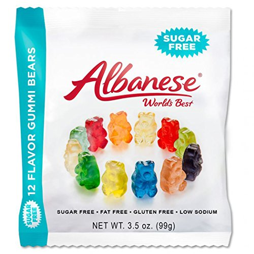 Albanese Sugar-Free 12 Flavors Gummi Bears Peg, 3.5 Ounce (Pack of 12) by Albanese