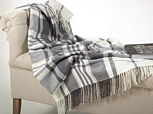 - Fennco Styles Plaid Design Throw Blanket in Soft Hues, 50