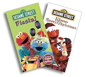 Amazon.com: Sesame Street - Fiesta!/Elmo Saves Christmas [VHS ...