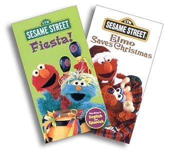 Amazon com: Sesame Street - Fiesta!/Elmo Saves Christmas [VHS