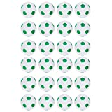 Truscope Sports Foosball Table Soccer Replacement Balls - 36mm - (24 Pack, Green-White)