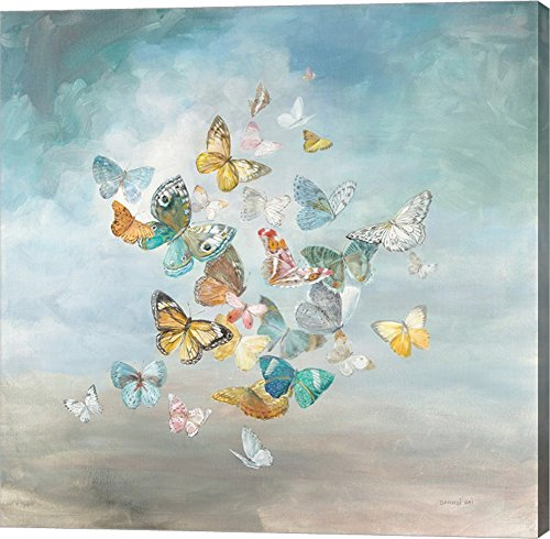 Beautiful Butterflies by Danhui Nai Canvas Art Wall Picture, Gallery Wrap, 24 x 24 (Butterfly Collage)
