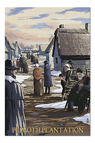 (Plimoth Plantation, Massachusetts Scene (20x30 Premium 1000 Piece Jigsaw Puzzle, Made in USA!))