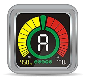 GUITARX X5 - Guitar Tuner Clip on - Rotational Color Display, Easy to Use, Accurate - Chromatic, Guitar, Ukulele, Violin and Bass Modes - Pitch Calibration and Transposition Settings