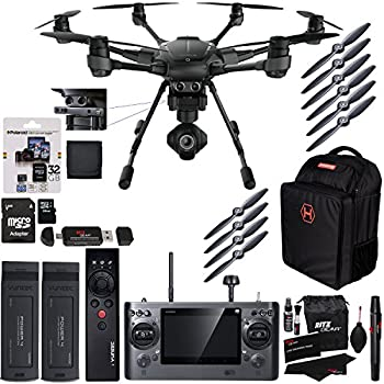 Yuneec Typhoon H Pro 4k Intel RealSense Collision Avoidance Hexacopter GCO3 4K Camera Kit, Wizard Wand, Bag, Battery, Polaroid 32GB, and Accessory Bundle