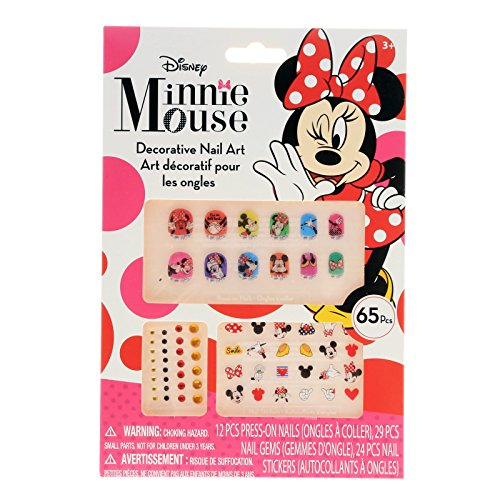 Disney FBA_MINSTCK65 Minnie Mouse Bowtique 65 Piece Decorative Nail Art Kit