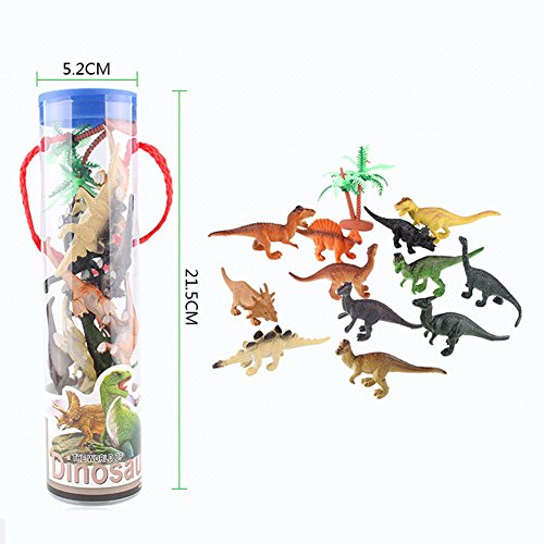 12pcs Assorted Dinosaur Combo Models Toy Animals Action Figures Set Kids Gift N@N