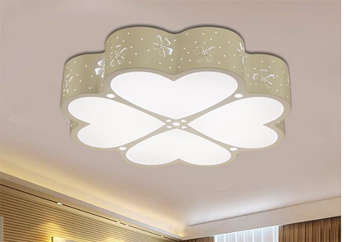 Lighsch lampada da soffitto camera da letto led quattro foglie