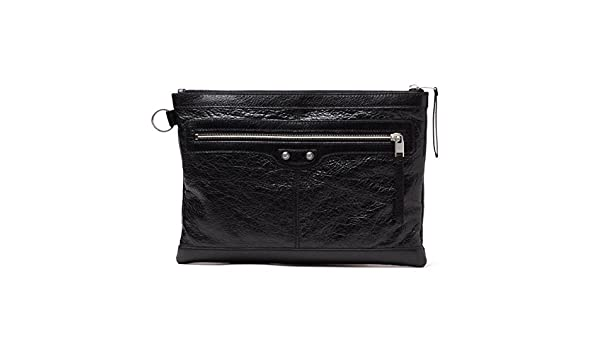 84e7ab9566 BALENCIAGA Leather Medium Clutch Bag 273022  Amazon.ca  Shoes   Handbags