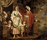 Oil Painting 'Pierre Joseph Verhaghen,The Story Of Abraham,1728-1811' 30 x 35 inch / 76 x 88 cm , on High Definition HD canvas prints is for Gifts And Home Office, Kitchen And Laundry Room Decoration