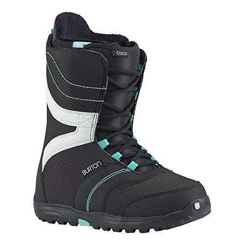 Burton - Womens Coco Snowboard Boots 2018, Black/Teal, 9 by Burton