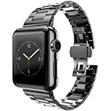 Huanlong 2017 Latest Solid Stainless Steel Metal Replacement Watchband Bracelet for Apple Watch Iwatch