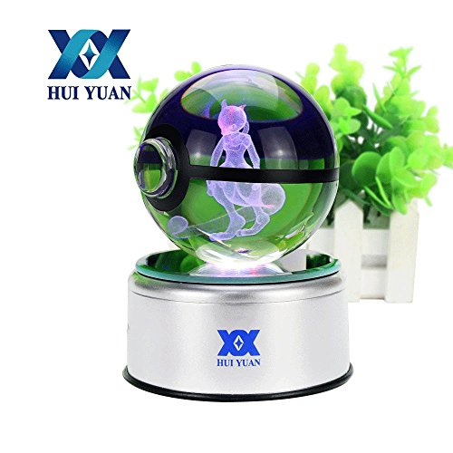 Costumes For Adults To Make At Home (3D Crystal Ball Fancy LED Lighting and Spinning Primary Base Advance 3D Laser Engraving Valentine Children's Gift (Mewtwo))