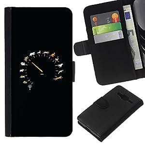 EJOY---La carpeta del tirón la caja de cuero de alta calidad de la PU Caso protector / Samsung Galaxy Core Prime / --Noche de coches Camino Libertad Negro