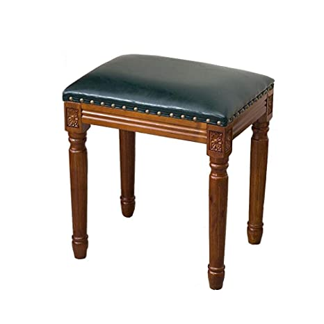 Terrific Amazon Com Qiqi Life American Solid Wood Vanity Stool Caraccident5 Cool Chair Designs And Ideas Caraccident5Info