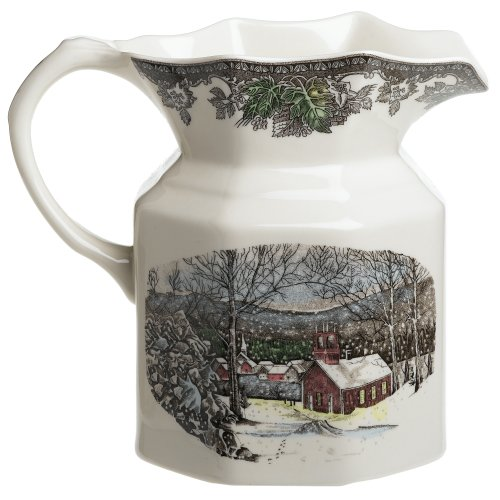 Christmas Tablescape Décor - Johnson Brothers Friendly Village Large Pitcher
