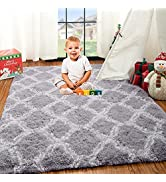 Zareas Soft Abstract Shaggy Rugs Fluffy Carpet for Living Room Bedroom, Decorative Fuzzy Carpet f...