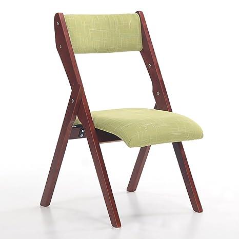 Amazon.com: JHZDY sillas plegables de madera de haya sillas ...