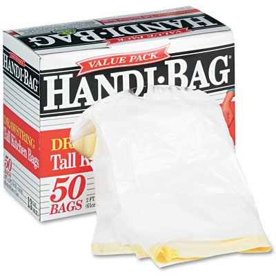 Webster Handi-Bag Super Value Pack Can Liners - Handi-Bag Waste Liners 13Gl 0.7Mil 50/Box