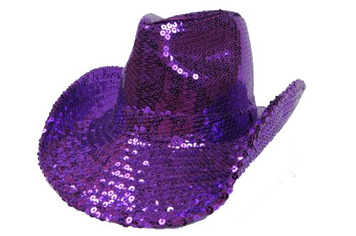 Western Purple Sequins / Birthday Girl /Red Hat Ladies Red Hat Purple Sequin