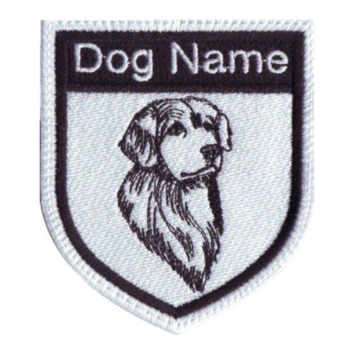 Custom Golden Retriever Dog Name Embroidered Sew On Patch