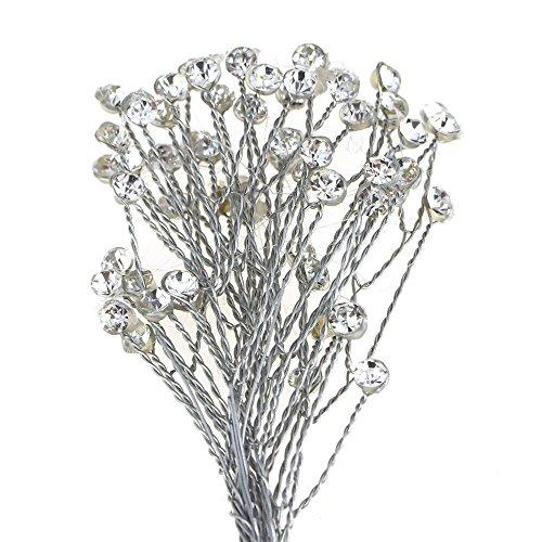 Homeford Crystal Rhinestone Spray Branch, 7-1/2-Inch, 12-Count (Crystal) ()