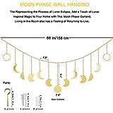 Moon Phase Decor Wall Hanging - Gold Moon Cycle