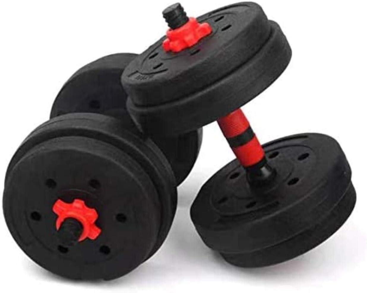 Muscle Ajustable de Fitness con Mancuernas Set for Hombres y Equipo Femenino de Formación Brazo casero Pesos de la Gimnasia 15KG 20KG 25KG, Elementos de la Pantalla Peso: 15,0 kilogramos