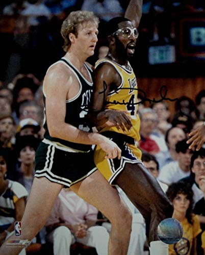 James Worthy Hand Signed Autographed 8x10 Photo Los Angeles Lakers V Larry Bird - Autographed NBA ()