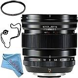 Fujifilm XF 16mm f/1.4 R WR Lens 16463670 + 67mm UV Filter + Fibercloth + Lens Capkeeper Bundle